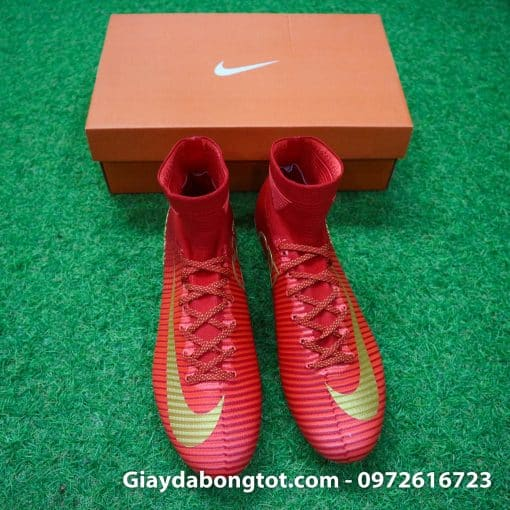 Giay bong da Nike cao co Mercurial Superfly V CR7 mau do ao dau Bo Dao Nha (8)