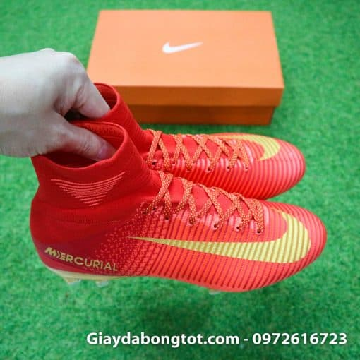 Giay bong da Nike cao co Mercurial Superfly V CR7 mau do ao dau Bo Dao Nha (9)