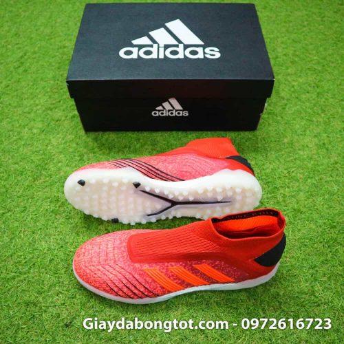 Giay bong da khong day Adidas Predator 19+ mau do 2019 (2)