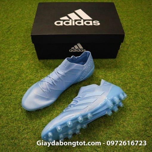 Giay da banh Adidas Nemeziz Messi 18.1 AG xanh duong nhat da vai (10)