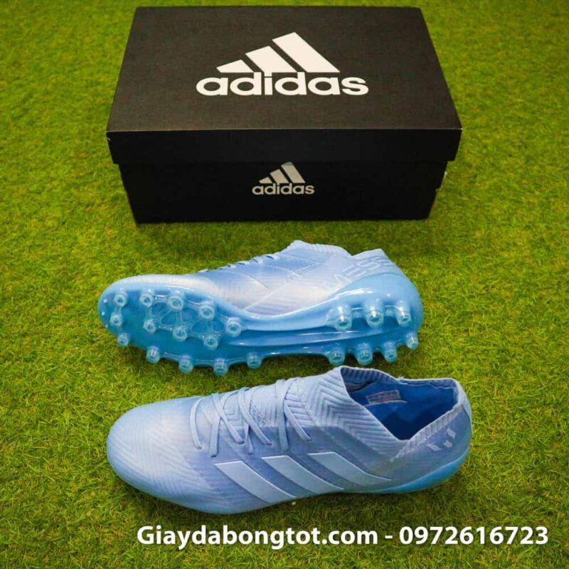 Giay da banh Adidas Nemeziz Messi 18.1 AG xanh duong nhat da vai (2)