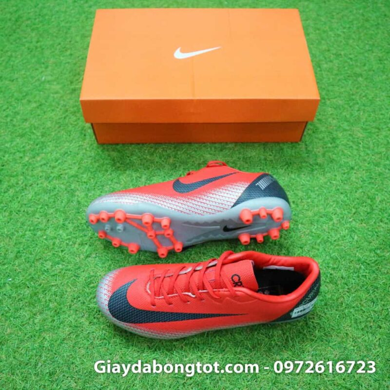 Giay da banh Nike CR7 dinh AG mau do got den chapter 7 (2)