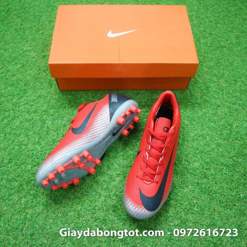Giay da banh Nike CR7 dinh AG mau do got den chapter 7 (3)