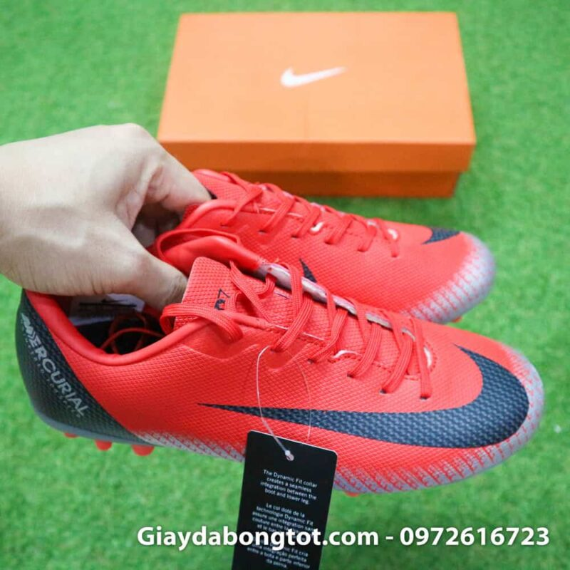 Giay da banh Nike CR7 dinh AG mau do got den chapter 7 (6)