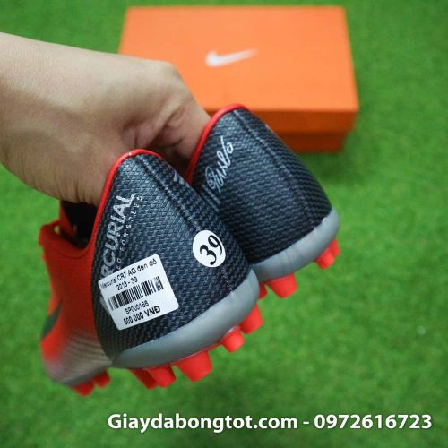 Giay da banh Nike CR7 dinh AG mau do got den chapter 7 (7)