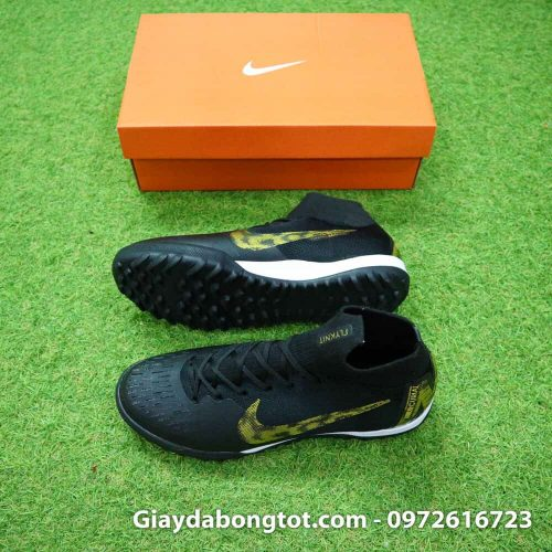 Giay da banh Nike co cao Mercurial Superfly 360 TF mau den 2019 (2)