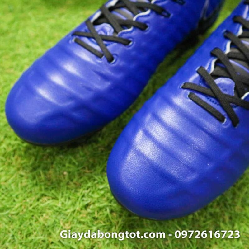 Giay da banh chan be Nike Tiempo FG xanh duong dam 2019 (10)