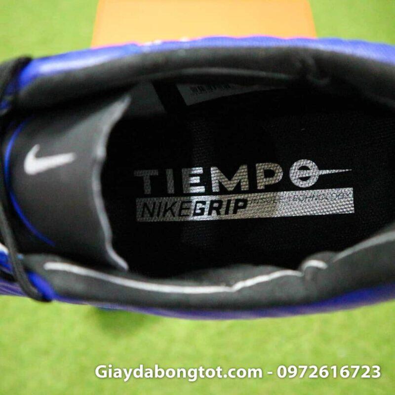 Giay da banh chan be Nike Tiempo FG xanh duong dam 2019 (11)