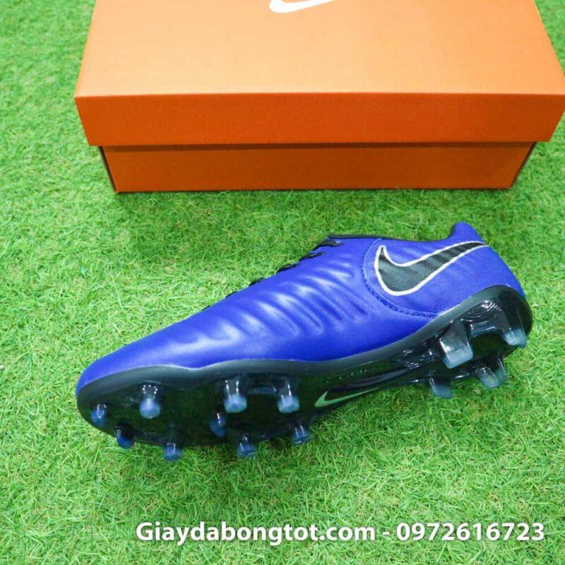 Giay da banh chan be Nike Tiempo FG xanh duong dam 2019 (3)