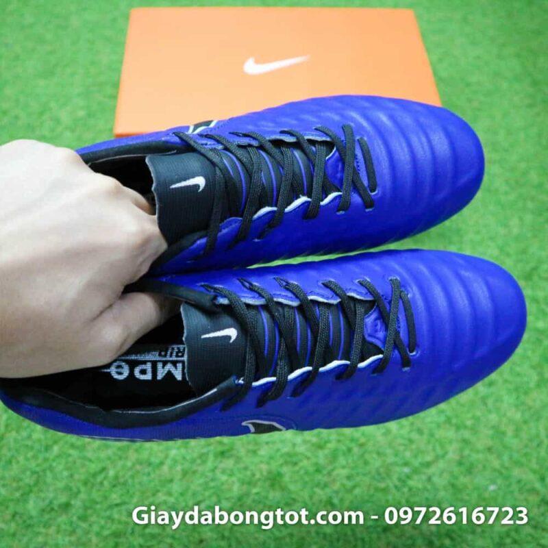 Giay da banh chan be Nike Tiempo FG xanh duong dam 2019 (9)