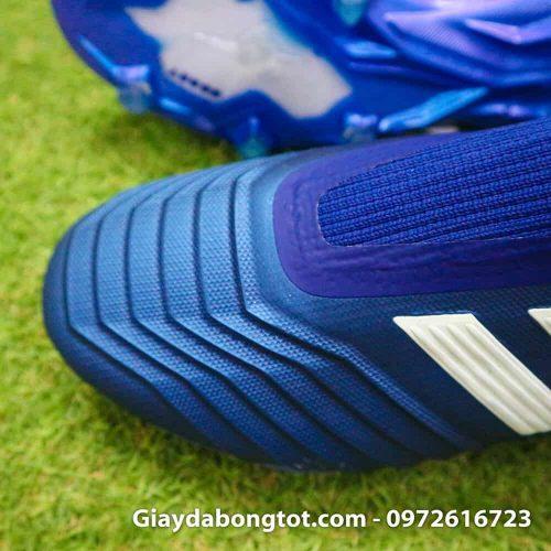 Giay da banh khong day Adidas Predator 18+ FG xanh duong 2019 (3)