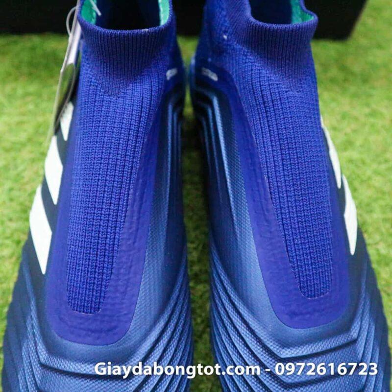 Giay da banh khong day Adidas Predator 18+ FG xanh duong 2019 (9)
