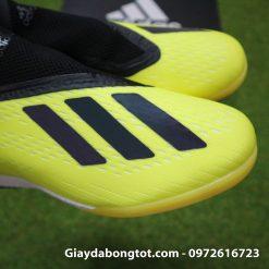 Giay da banh khong day Adidas X18+ TF mau Vang Chuoi vach Den (10)