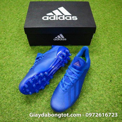 Giay da banh san co nhan tao Adidas X18.3 AG xanh duong dam (3)