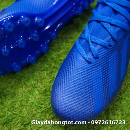 Giay da banh san co nhan tao Adidas X18.3 AG xanh duong dam (4)