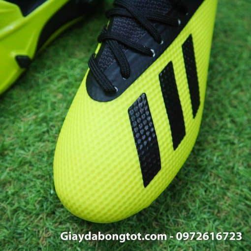 Giay da banh tre em dinh cao Adidas X18.3 FG mau xanh chuoi (5)