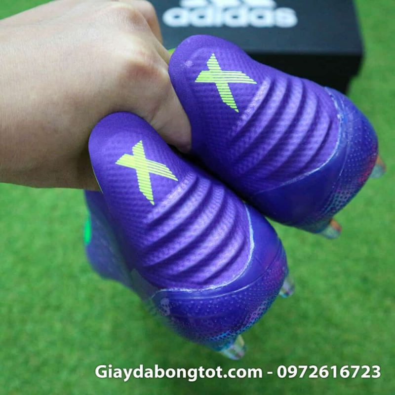 Giay da bong Adidas khong day X18+ FG mau tim moi nhat 2019 (7)