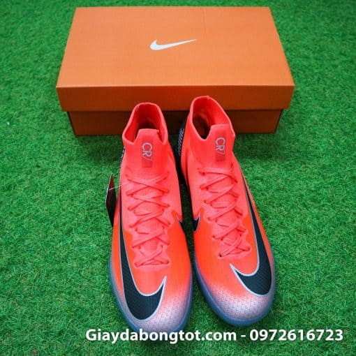 Giay da bong Nike co cao Merurial Superfly 360 CR7 TF mau do got den (11)