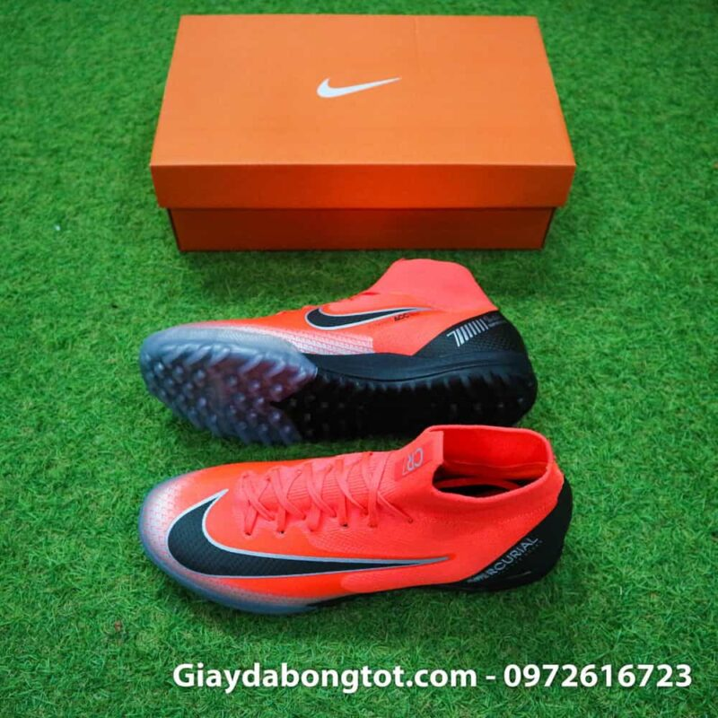 Giay da bong Nike co cao Merurial Superfly 360 CR7 TF mau do got den (2)