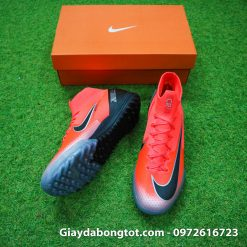 Giay da bong Nike co cao Merurial Superfly 360 CR7 TF mau do got den (4)