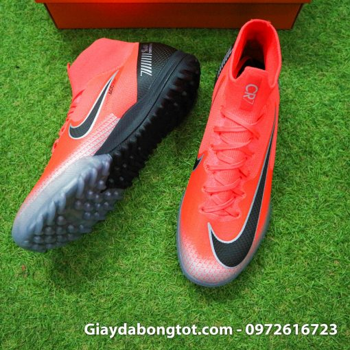 Giay da bong Nike co cao Merurial Superfly 360 CR7 TF mau do got den (6)