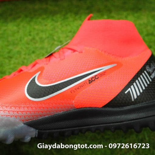 Giay da bong Nike co cao Merurial Superfly 360 CR7 TF mau do got den (7)