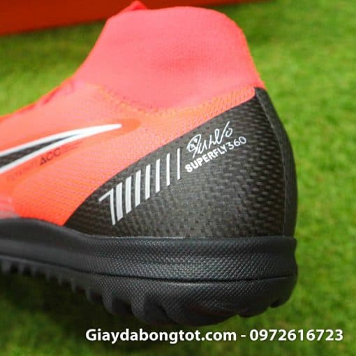 Giay da bong Nike co cao Merurial Superfly 360 CR7 TF mau do got den (8)