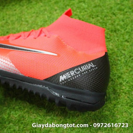 Giay da bong Nike co cao Merurial Superfly 360 CR7 TF mau do got den (9)