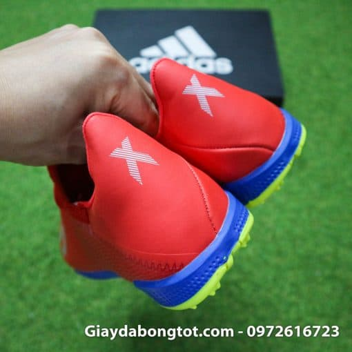 Giay da bong chan be Adidas X19.3 TF mau do vach bac (1)