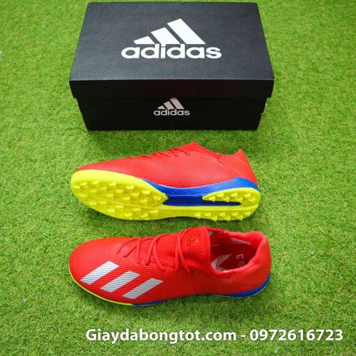 Giay da bong chan be Adidas X19.3 TF mau do vach bac (2)