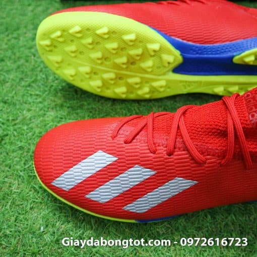 Giay da bong chan be Adidas X19.3 TF mau do vach bac (3)