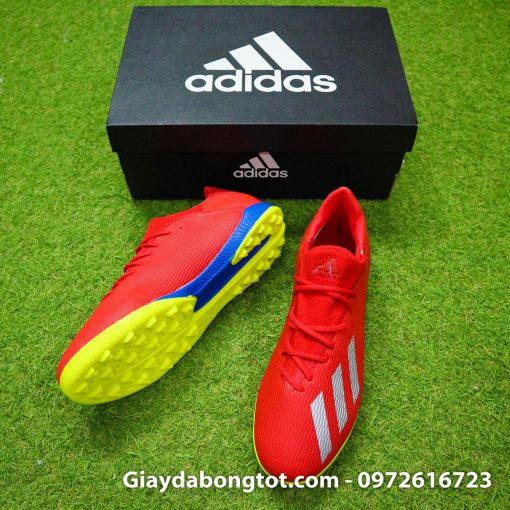 Giay da bong chan be Adidas X19.3 TF mau do vach bac (6)