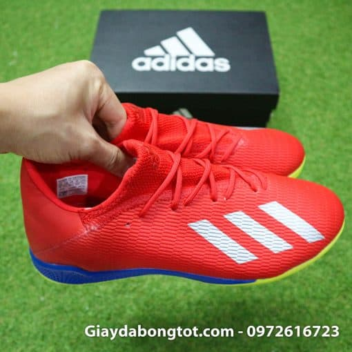 Giay da bong chan be Adidas X19.3 TF mau do vach bac (9)