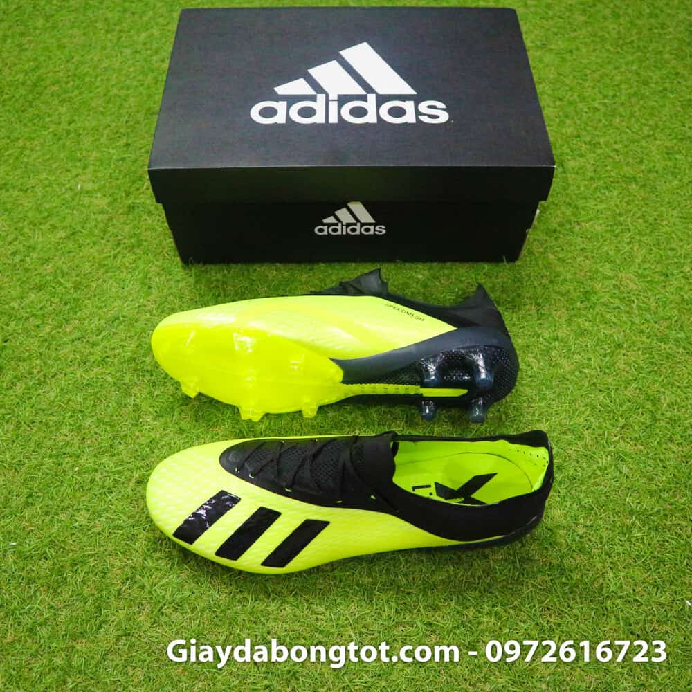 first rate d5723 7a3f0 Giày đá banh Adidas X18.1 FG màu Chuối Đen -