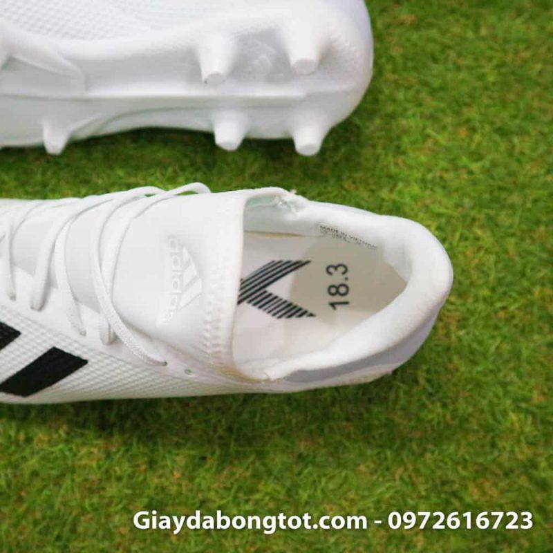 Giay da bong dinh cao sieu nhe Adidas X18.3 FG mau trang 178g (4)