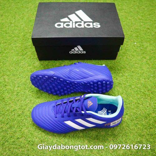 Giay da bong nhe Adidas Predator 18.4 TF Xanh Duong vach trang (2)