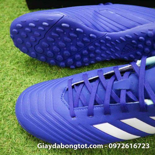 Giay da bong nhe Adidas Predator 18.4 TF Xanh Duong vach trang (3)
