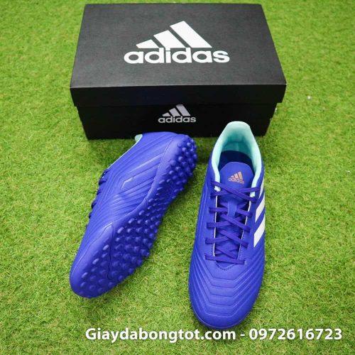 Giay da bong nhe Adidas Predator 18.4 TF Xanh Duong vach trang (4)