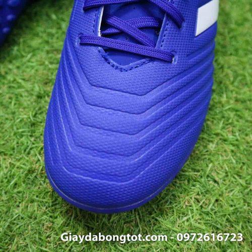 Giay da bong nhe Adidas Predator 18.4 TF Xanh Duong vach trang (5)