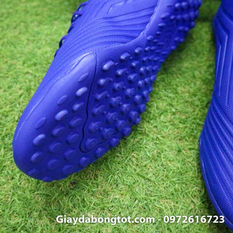 Giay da bong nhe Adidas Predator 18.4 TF Xanh Duong vach trang (6)
