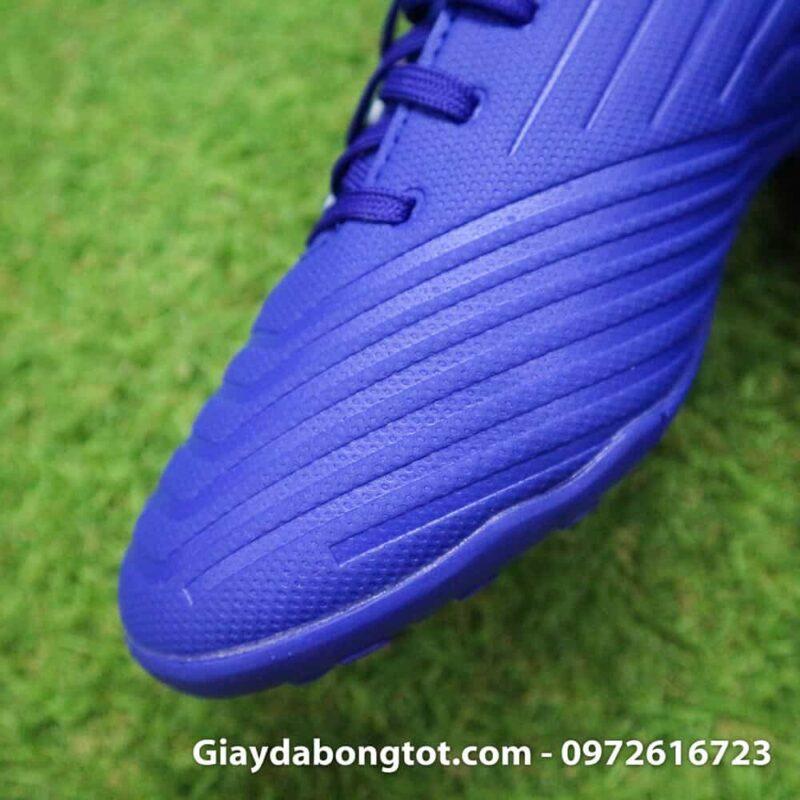Giay da bong nhe Adidas Predator 18.4 TF Xanh Duong vach trang (7)