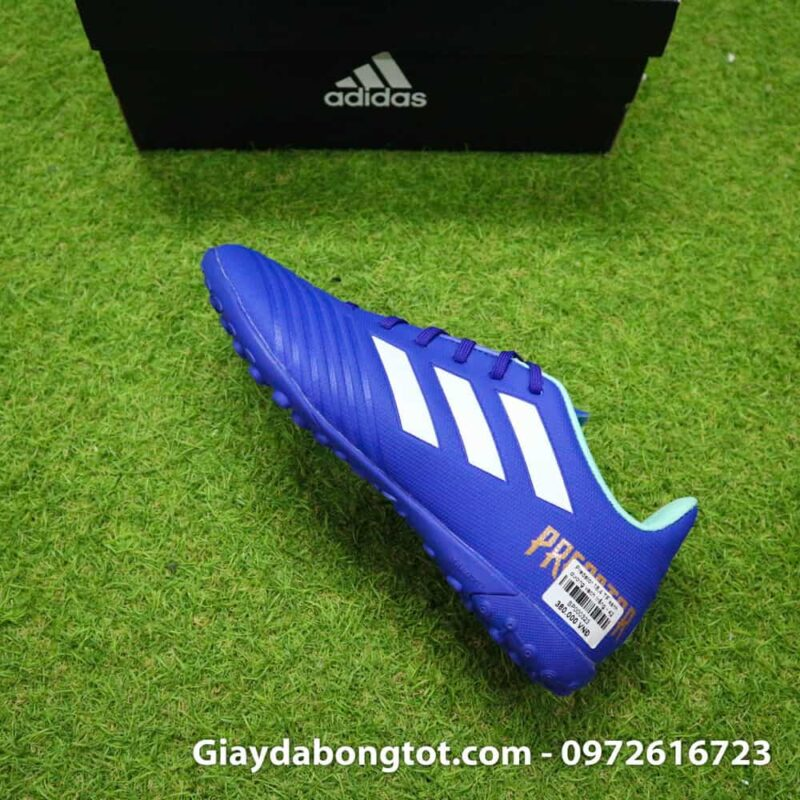 Giay da bong nhe Adidas Predator 18.4 TF Xanh Duong vach trang (8)