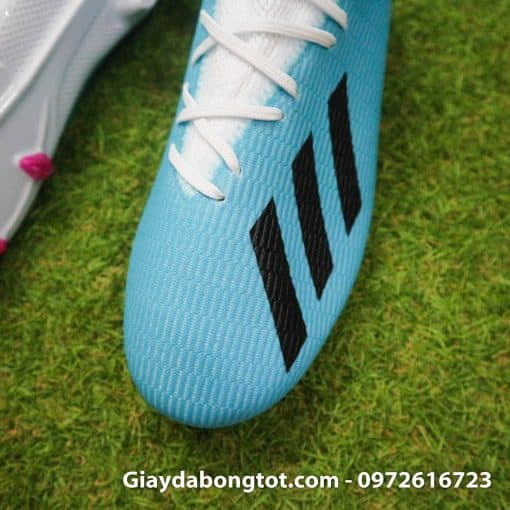 Giay da bong sieu nhe Adidas X19.3 FG xanh nhat co trang (5)