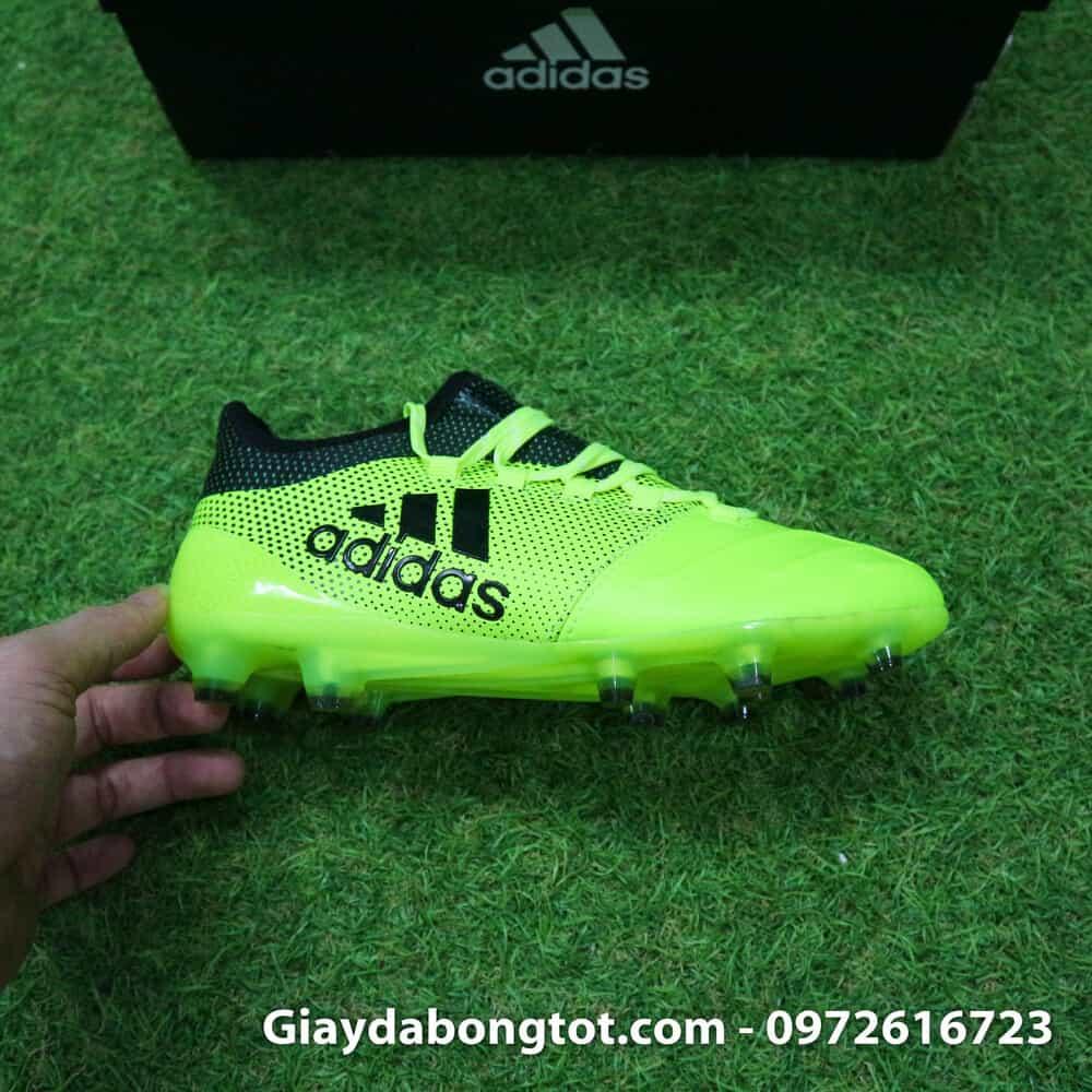 cheaper 49c11 69c06 Giày đá bóng trẻ em da mềm Adidas X17.1 FG Chuối -