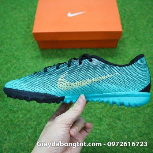 Giay san co nhan tao Nike Mercurial CR7 TF xanh Reu Bo Dao Nha (1)