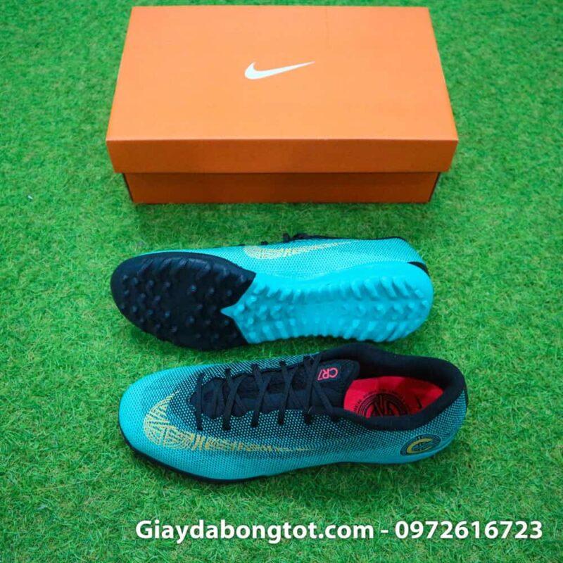 Giay san co nhan tao Nike Mercurial CR7 TF xanh Reu Bo Dao Nha (2)