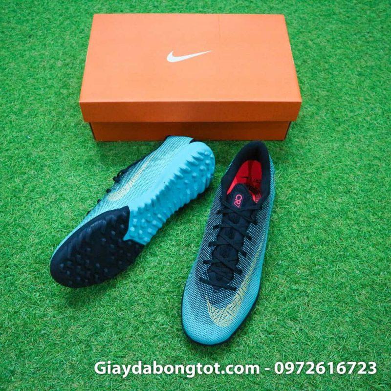 Giay san co nhan tao Nike Mercurial CR7 TF xanh Reu Bo Dao Nha (3)