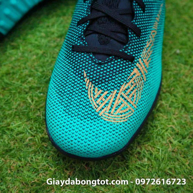 Giay san co nhan tao Nike Mercurial CR7 TF xanh Reu Bo Dao Nha (4)