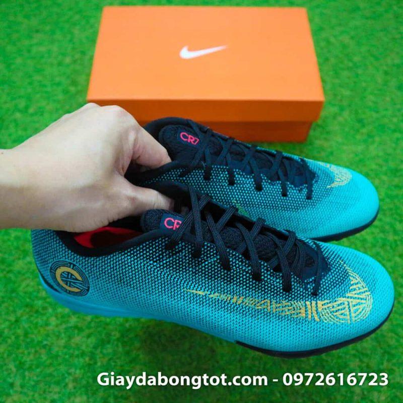 Giay san co nhan tao Nike Mercurial CR7 TF xanh Reu Bo Dao Nha (9)
