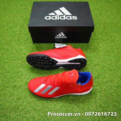 Giay bong da chinh hang Adidas X18.3 TF mau do Exhibit Pack (3)